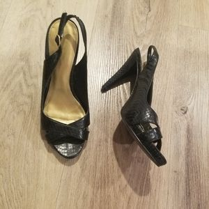 Ralph Lauren Slingback Platform heels 6
